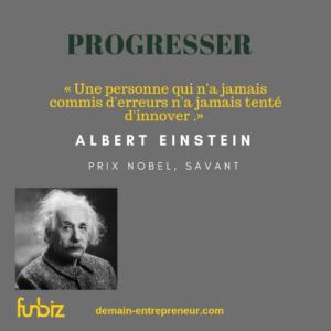 Comment progresser en innovant ? par Albert Einstein s